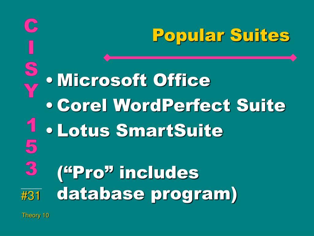 Popular Suites
