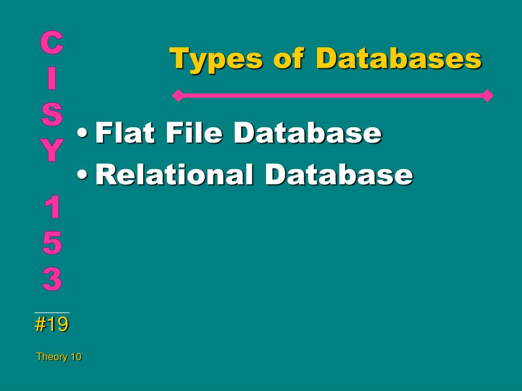Types of Databases