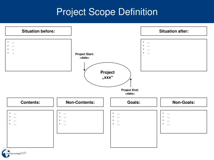 project scope definition n.