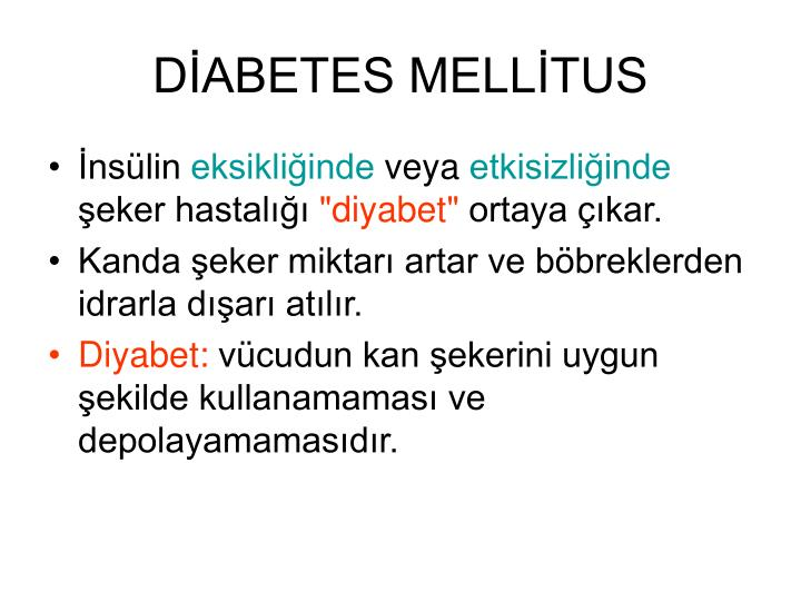 DİABETES MELLİTUS