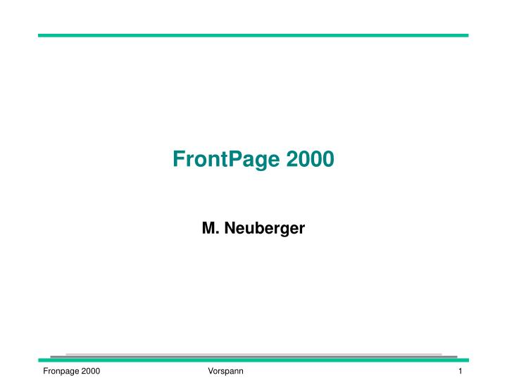 frontpage 2000 n.