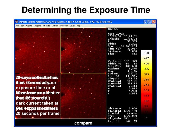 Determining the Exposure Time
