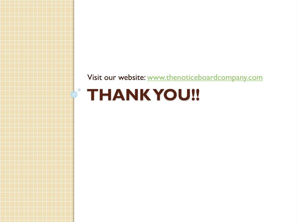 Visit our website: