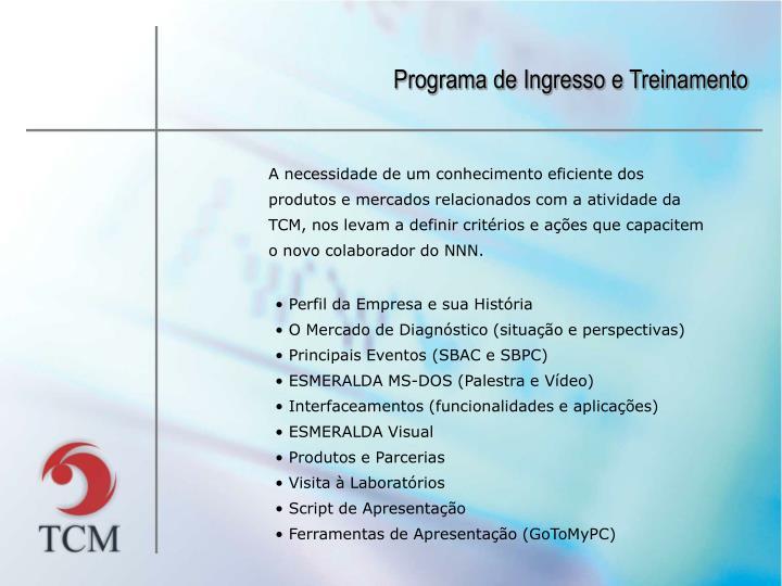Programa de Ingresso e Treinamento