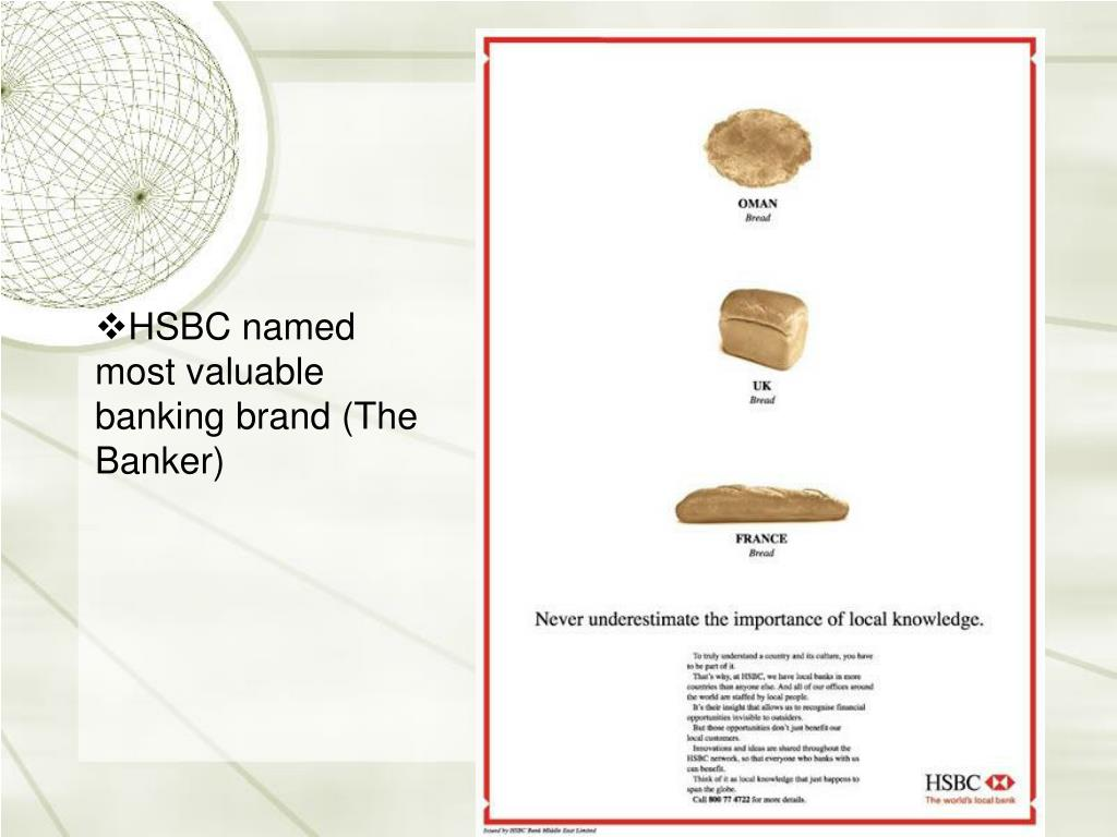 HSBC named most valuable banking brand (The Banker)
