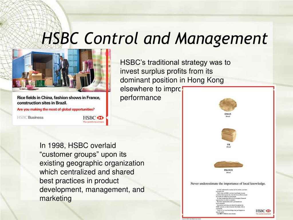 HSBC Control and Management