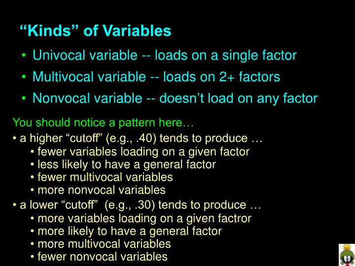 """Kinds"" of Variables"