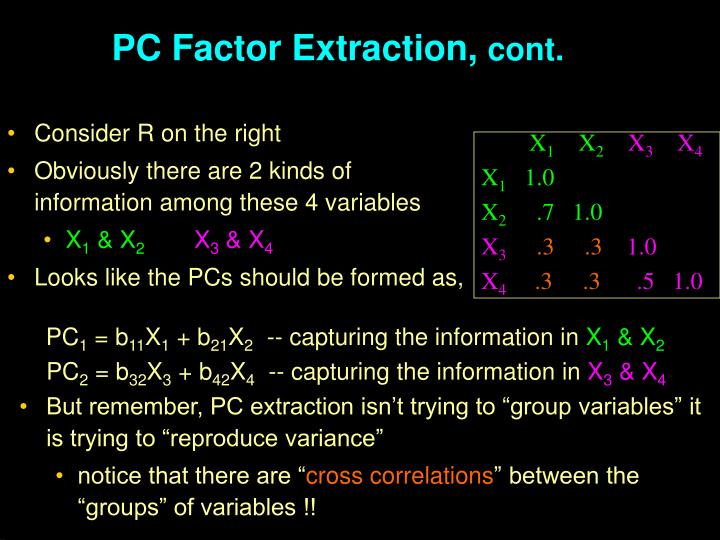 PC Factor Extraction,