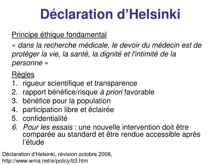 D claration d helsinki