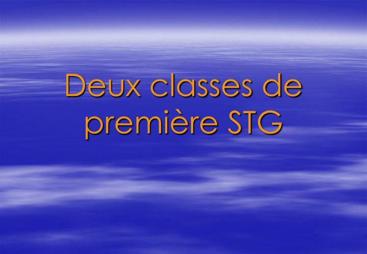 Deux classes de