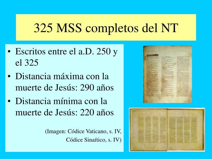 325 MSS completos del NT
