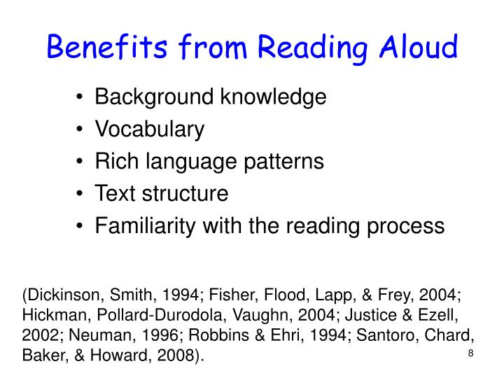 Benefits from Reading Aloud