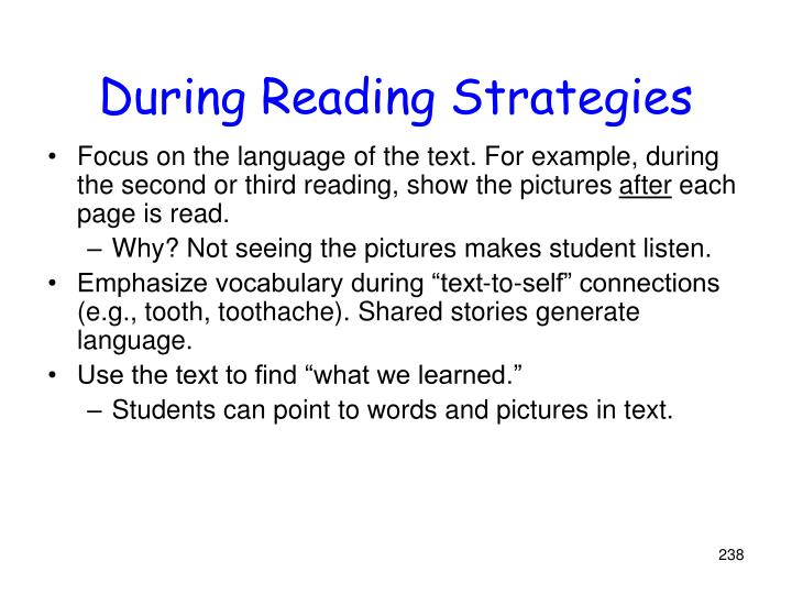 During Reading Strategies