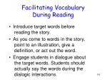 facilitating vocabulary during reading