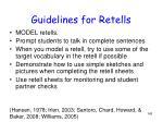 guidelines for retells
