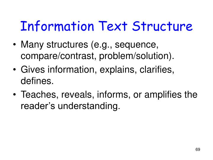 Information Text Structure