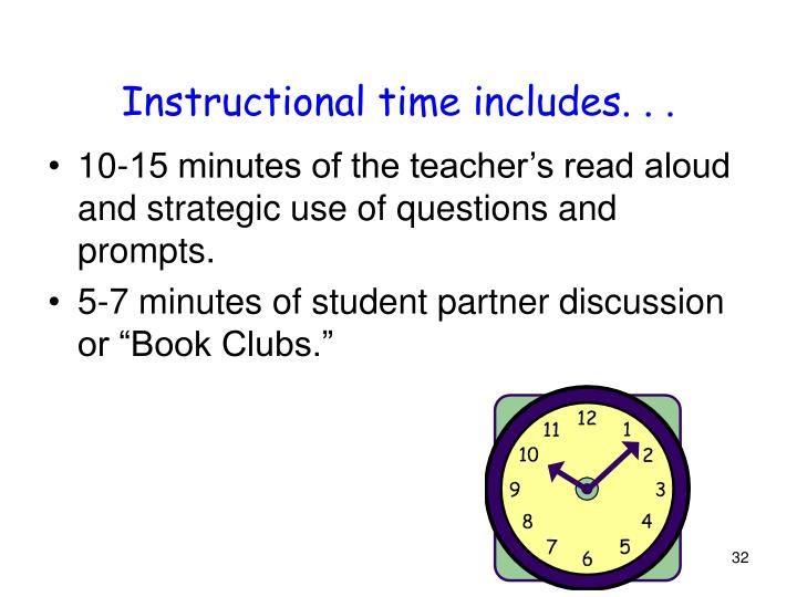 Instructional time includes. . .