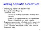 making semantic connections