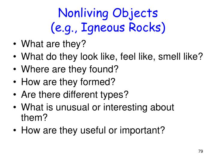 Nonliving Objects