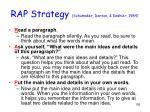 rap strategy schumaker denton deshler 1984