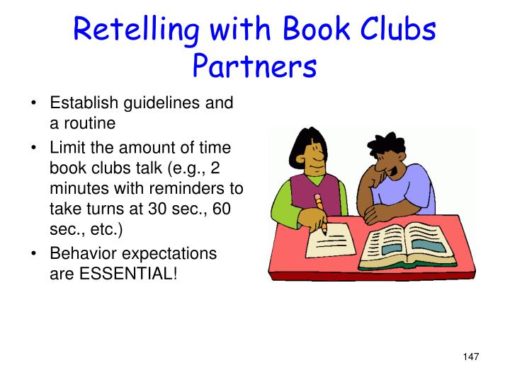 Retelling with Book Clubs Partners