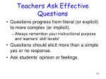 teachers ask effective questions