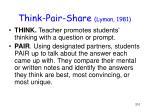 think pair share lyman 1981
