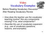 video vocabulary examples