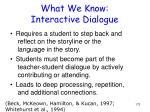 what we know interactive dialogue