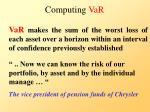 computing var