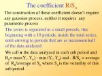 the coefficient r s n