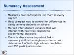 numeracy assessment