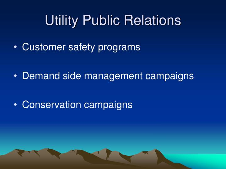 Utility public relations