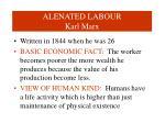 alenated labour karl marx