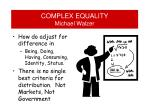 complex equality michael walzer