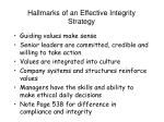 hallmarks of an effective integrity strategy