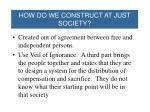 how do we construct at just society