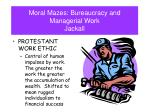 moral mazes bureaucracy and managerial work jackall