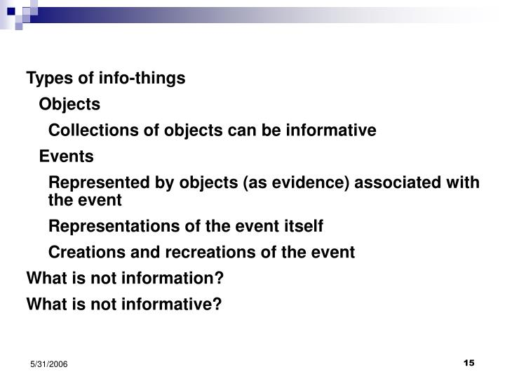 Types of info-things