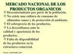 mercado nacional de los productos organicos