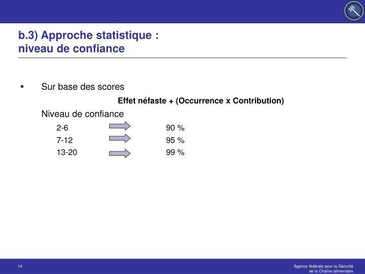 b.3) Approche statistique :