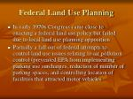 federal land use planning