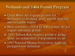 wetlands and 404 permit program