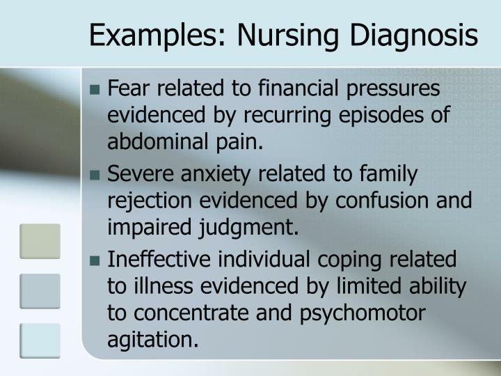 Examples: Nursing Diagnosis