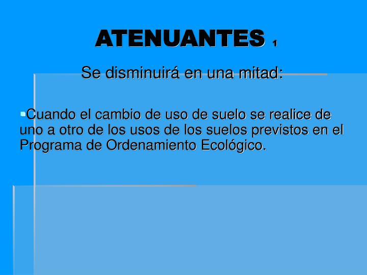 ATENUANTES