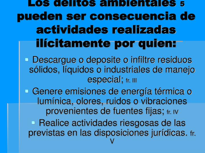 Los delitos ambientales