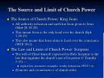 the source and limit of church power