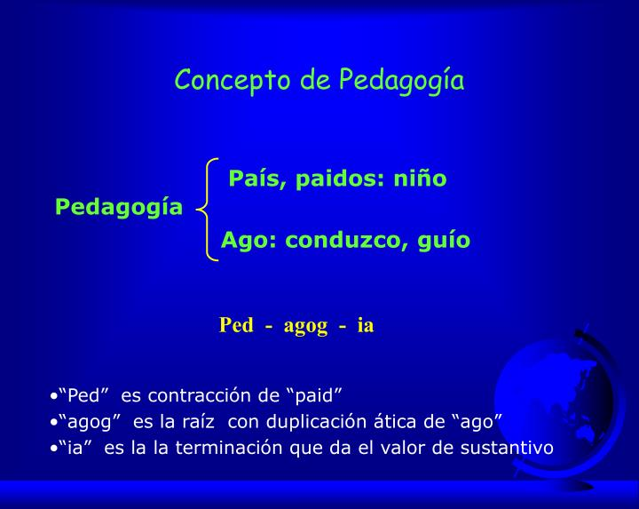 Concepto de Pedagogía
