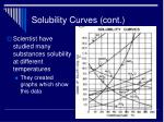solubility curves cont
