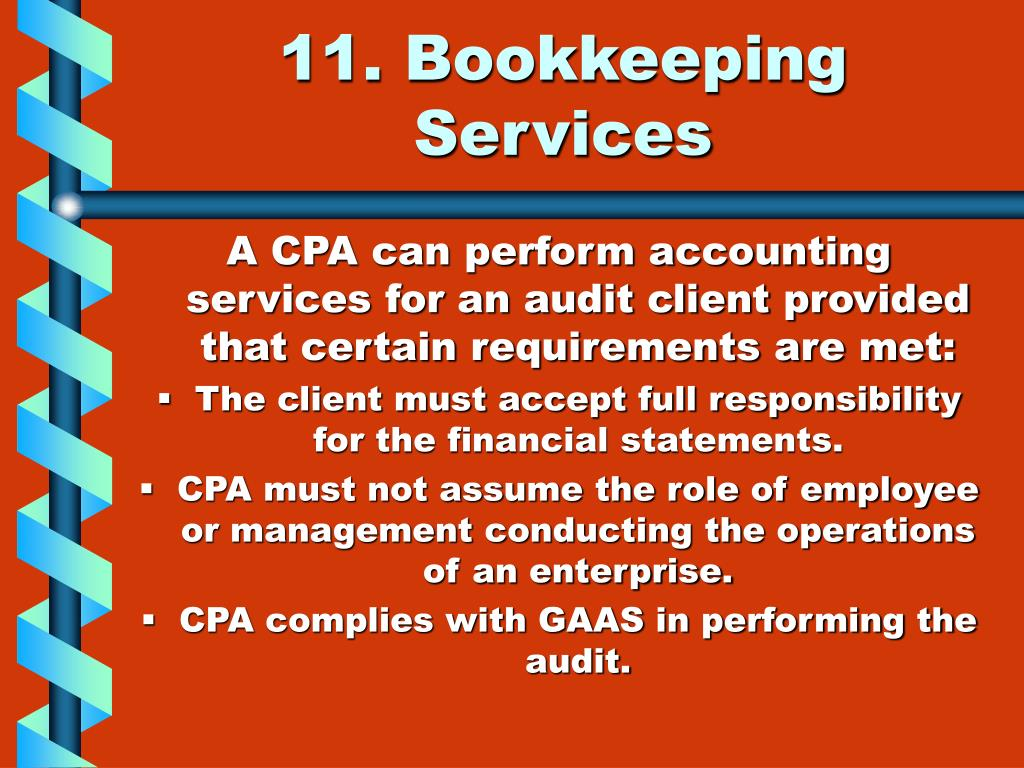 11. Bookkeeping Services